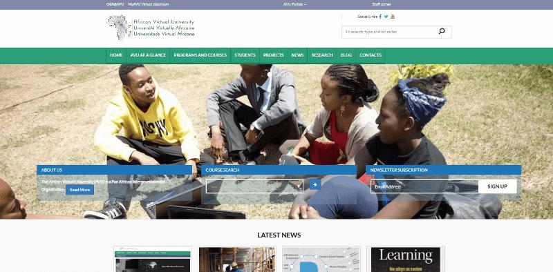 Africa Virtual University Website