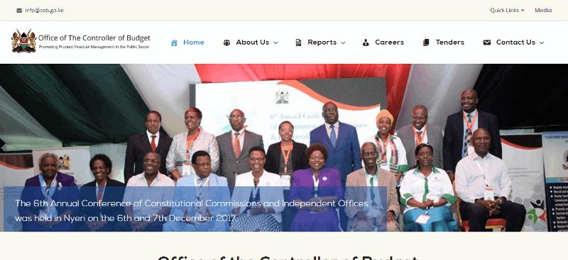 Controller of Budget Website