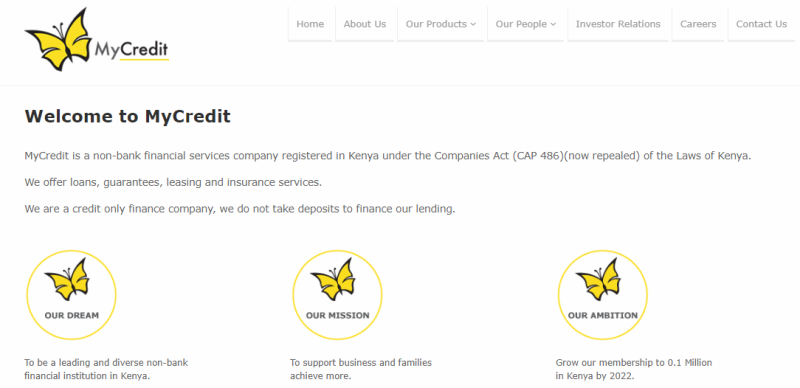 MyCredit Digital Lending Application